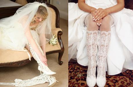 кружевные сапоги на свадьбу