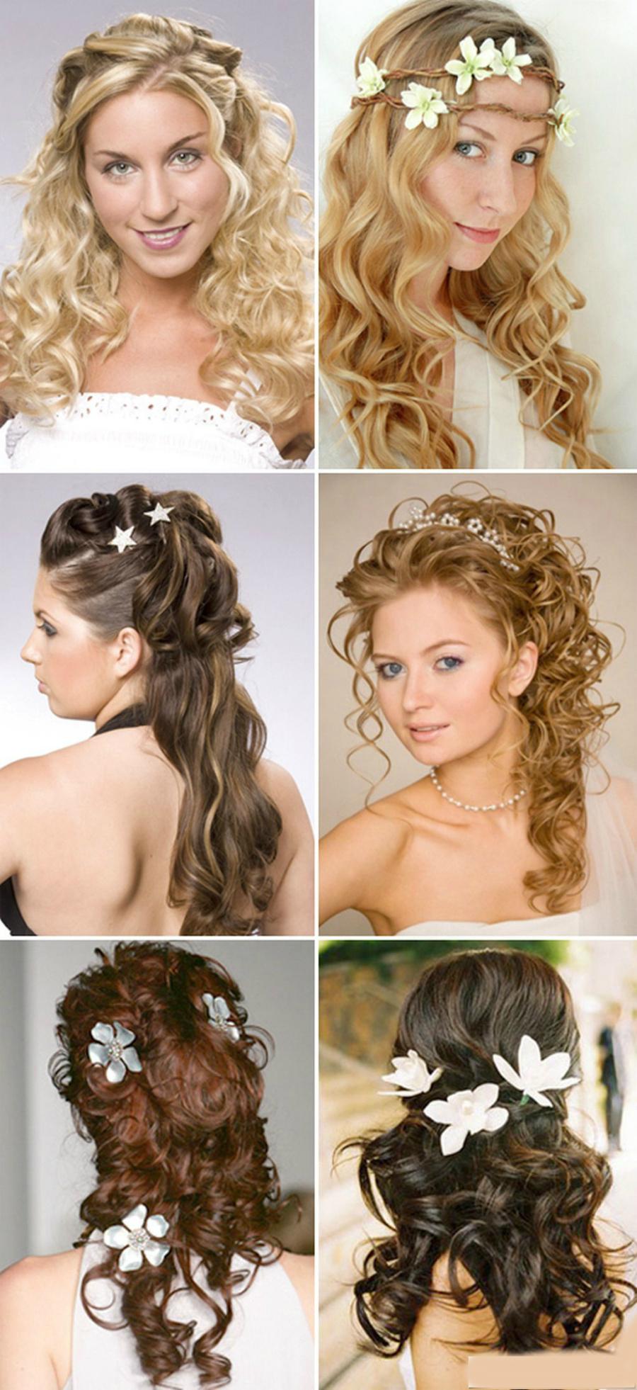 Длинный волос прическа на свадьбу