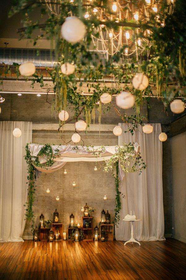 Hanging lanterns wedding