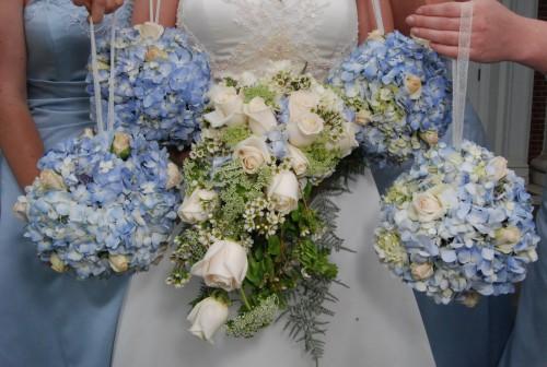 All the hydrangea bouquets