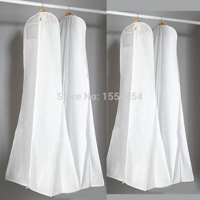 Бесплатная-доставка-180-см-длинные-русалка-свадебное-платье-пылезащитный-чехол-белый-двойной-нетканые-вечернее-платье-для