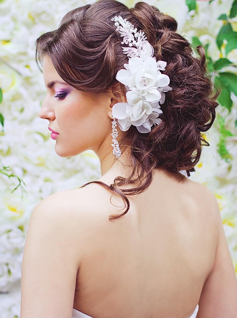 Цветы в причёску своими руками на средние волосы