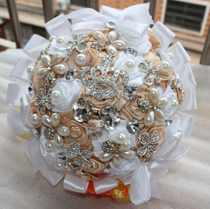 Accept-Custom-Make-100-Hand-Made-Top-quality-Artificial-Pearl-beaded-Brooch-Silk-Rose-Flower-bride