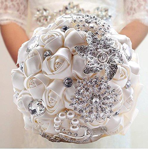 Beautiful-Vintage-Crystal-Pearl-Wedding-font-b-Flowers-b-font-White-Wedding-font-b-Bouquet-b