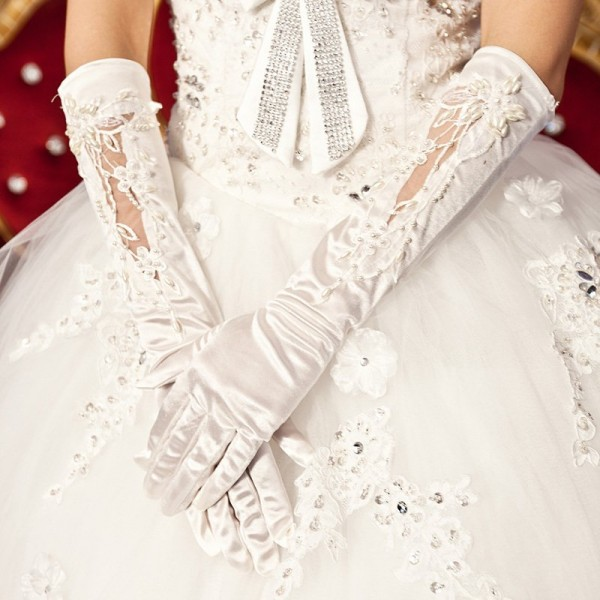 Free-Shipping-5pcs-lot-Yarn-full-satin-bead-gloves-the-bride-wedding-dress-gloves-bridal-gloves