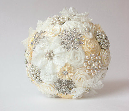 Free-shipping-Custom-European-diamond-brooch-pearl-hand-bouquet-DIY-the-bride-wedding-bouquet