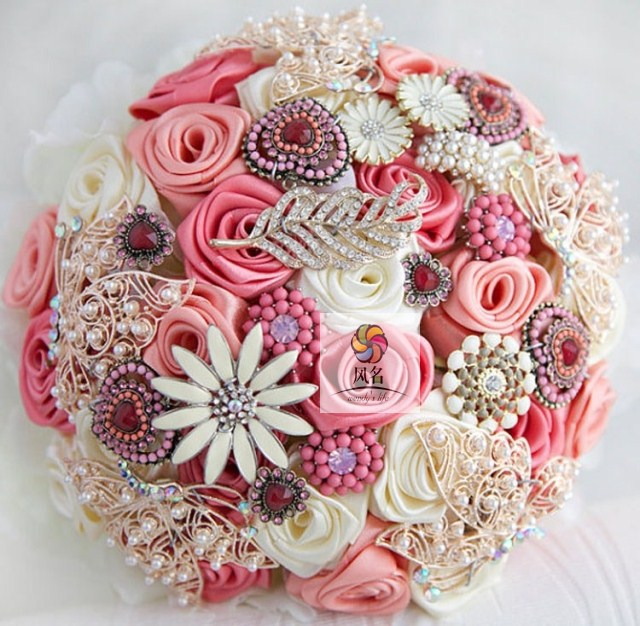 Free-shipping-Korean-married-the-bride-wedding-bouquet-Bridesmaid-sisters-flower-simulation-flowers-Red-white-pink