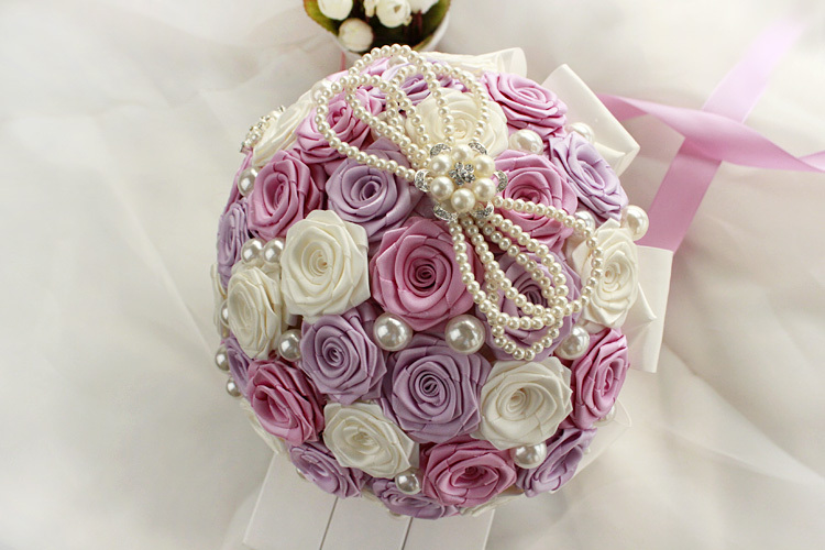 Free-shipping-The-new-high-grade-diamond-pearl-bouquet-Customize-the-bride-wedding-bouquet-wedding-gift