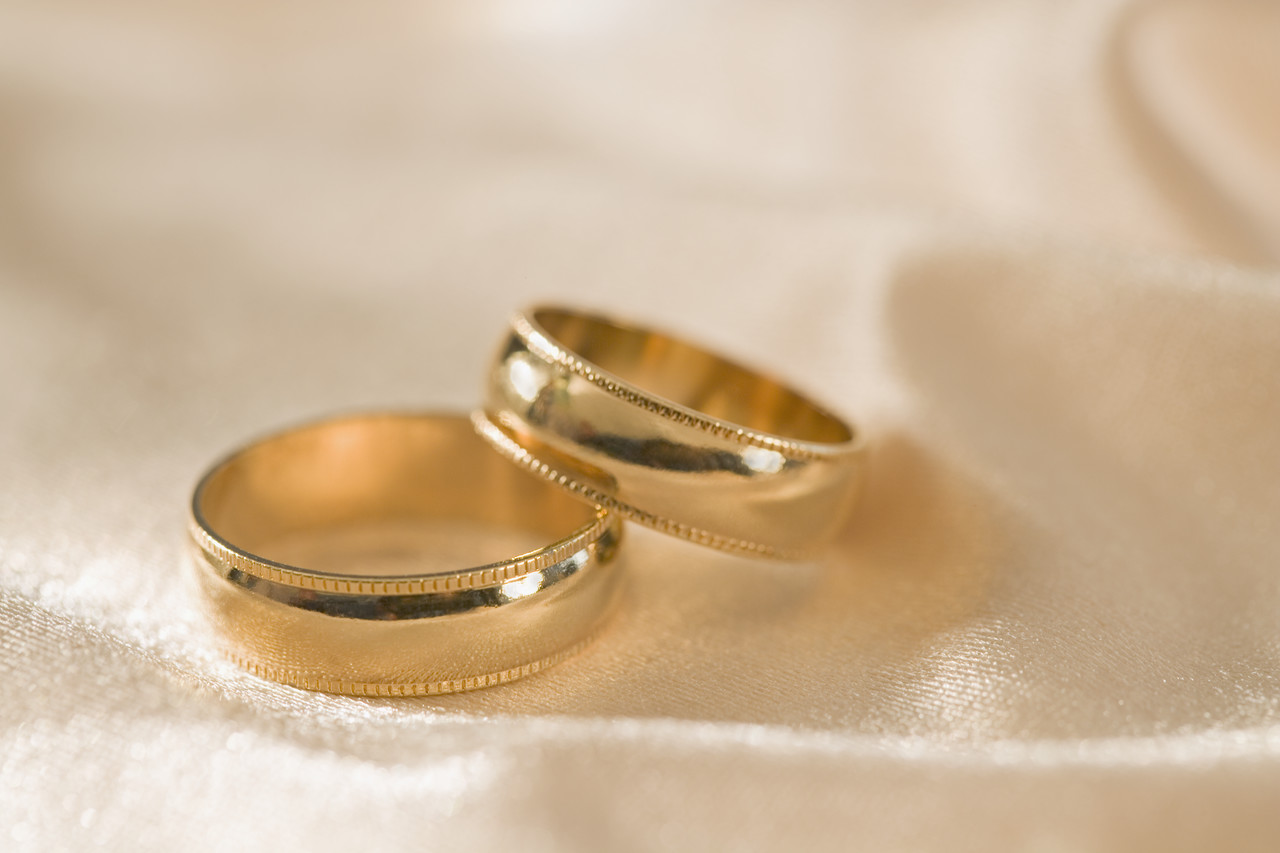 Gold Wedding Rings --- Image by © Royalty-Free/Corbis