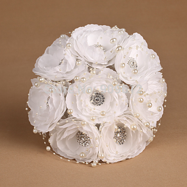 New-style-2015-custom-Hand-made-beautiful-flower-pearl-Rhinestone-crystal-Bridal-bride-bridesmaid-wedding-bouquet