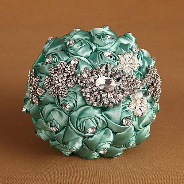 Rhinestone-in-a-row-Wedding-Bridal-Bouquets-Rhinestone-Pearl-Brooch-Hand-Hold-font-b-Flower-b