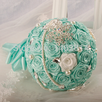 The-new-2015-ribbon-rose-pearl-color-ribbon-ribbon-custom-DIY-manual-hand-bouquet-wedding-theme