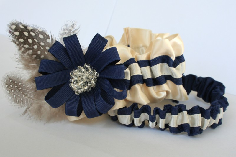 couture-wedding-garter-ivory-navy-blue-beads-rosette-tossing-The-Garter-Girl-by-Julianne-Smith