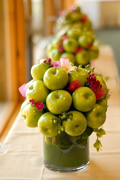 green-apple-centerpieces