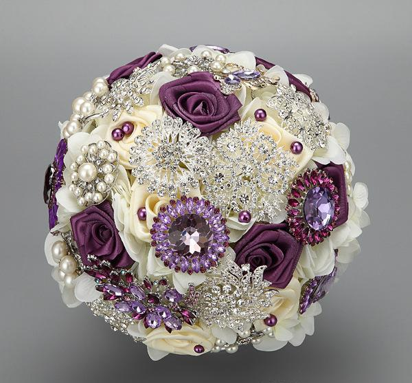 new-arrival-ivory-purple-bridal-bouquet-with