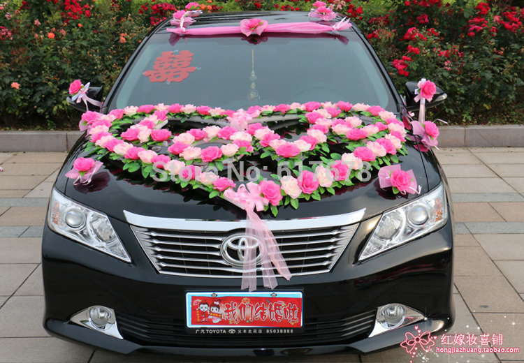 Car-flower-design-decoration-kit-wedding-car-decoration-suits-Festooned-vehicle-Wedding-essentials-Sexy-girl-love