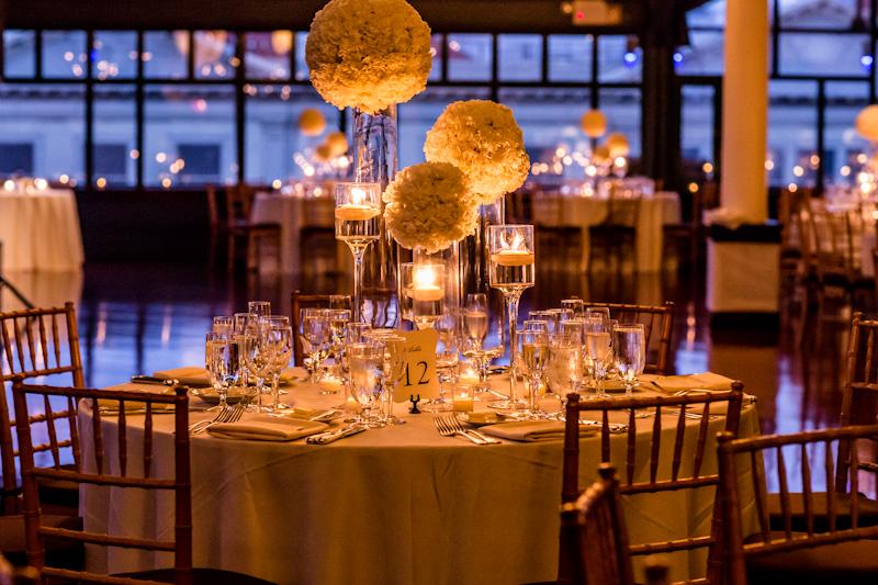 Flower-Balls-on-Glass-Vases-Reception-Decor-Ideas